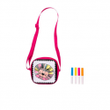 Crelando children's bag for painting including pens, different models in pink and blue