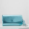 Esprit Tally Clutch blue shinny