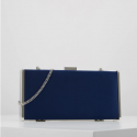 Forever New Adele Clutch box blue, silver