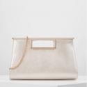 Forever New Handbag white shimmer
