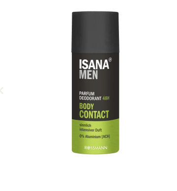 Isana men parfum deodorant Body Contact, 150ml